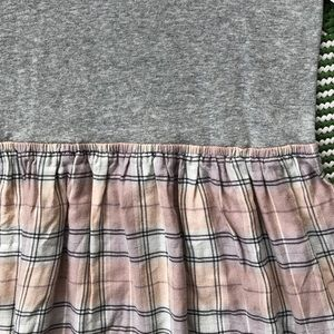 GAP Dresses - Gap girls pink and gray plaid dress with silver